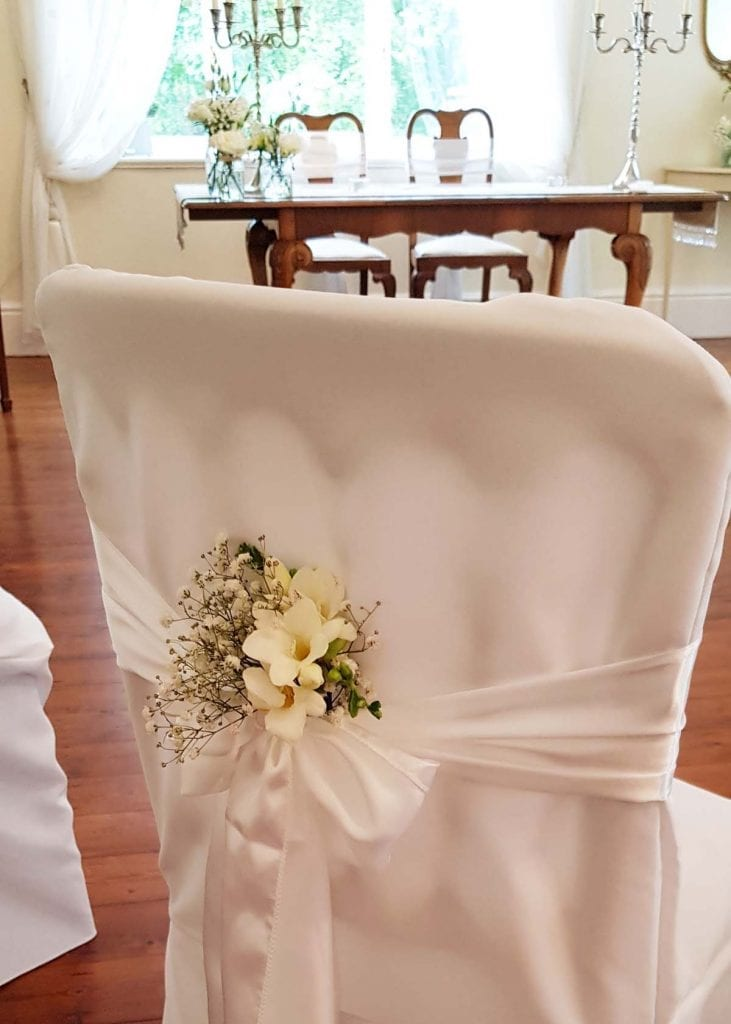 Chair Covers for a small wedding venue
