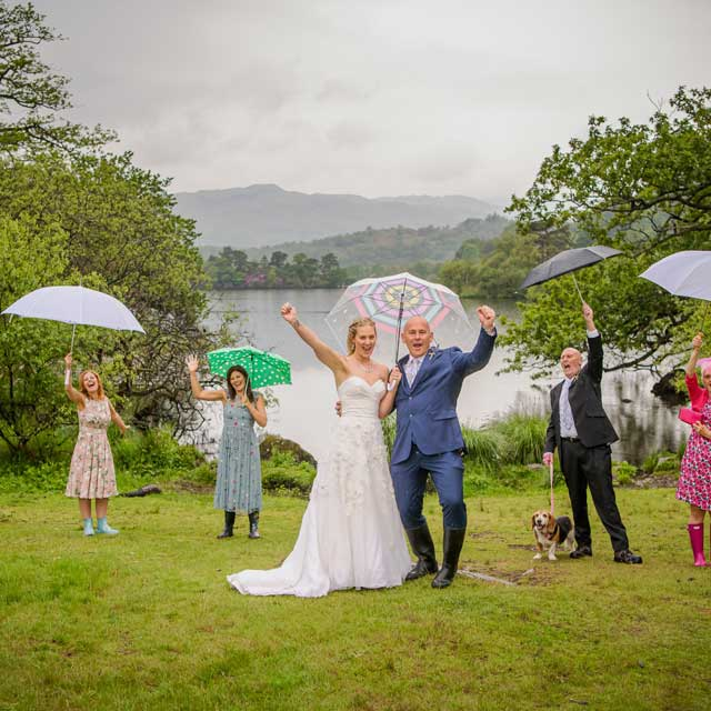 Rainy but Fun Wedding in the Lake District