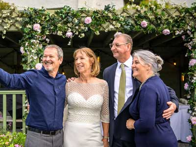 More mature Wedding Couple with Caroline and Steve after their wedding at Cote How