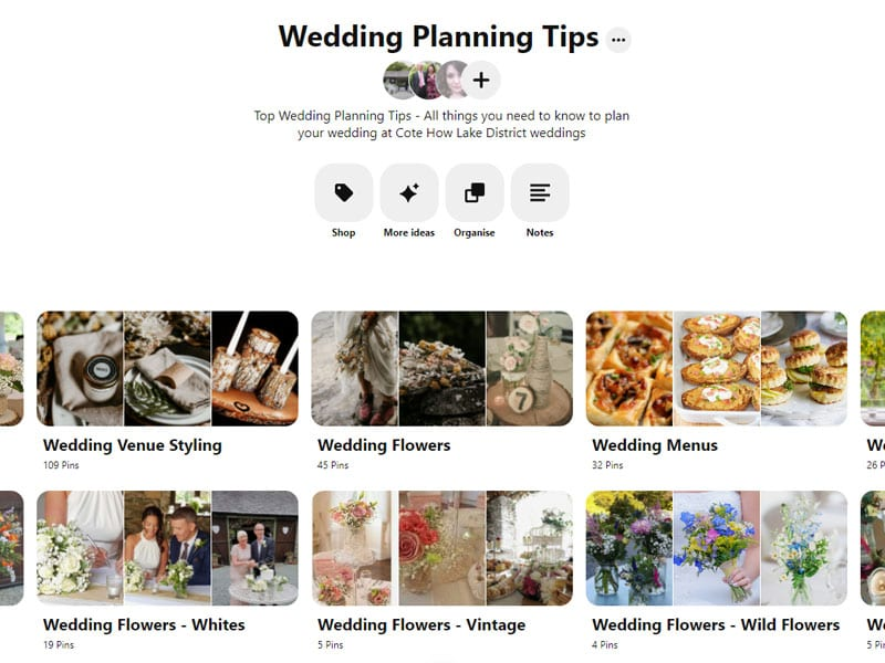 Cote How Pinterest Board - Wedding Planning Tips