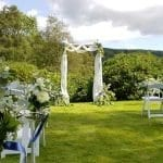Humanist Lawn Wedding Ceremony Set up