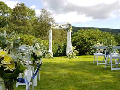 Humanist Lawn Wedding Ceremony Set up