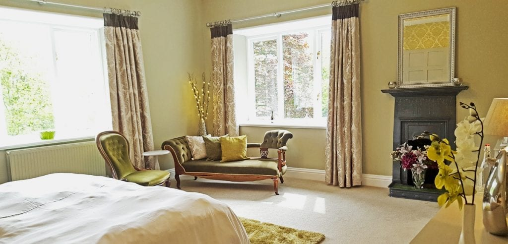 Luxury Wedding Accommodation Bridal Suite at Cote How Chaise Lounge