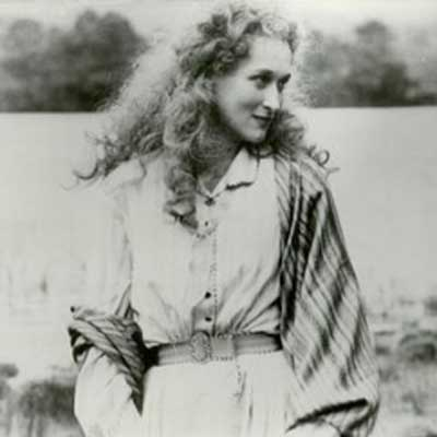 Meryl Streep in French Lieutenant's Woman which was filmed in our boathouse on Rydal Water
