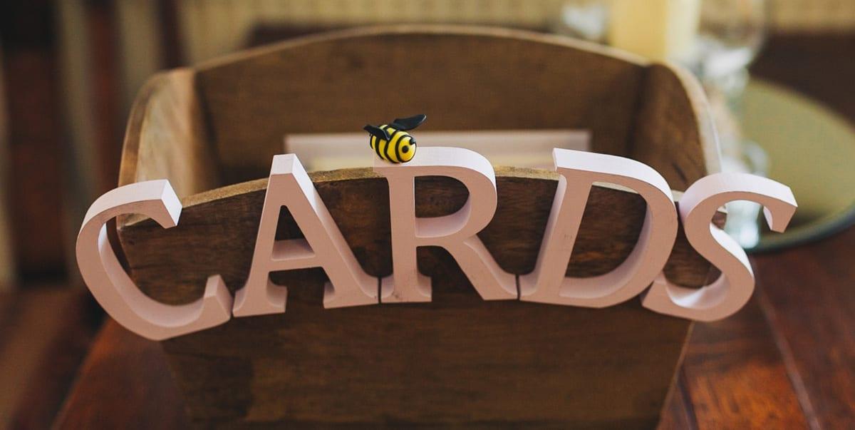 Bespoke Manchester Bee Wedding Card Box
