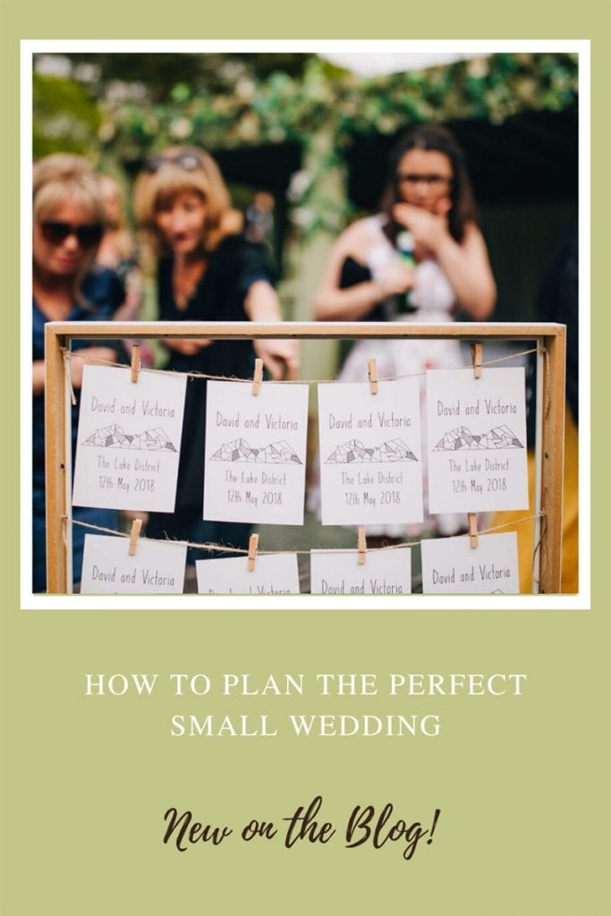 Pin It - How to plan the perfect small wedding