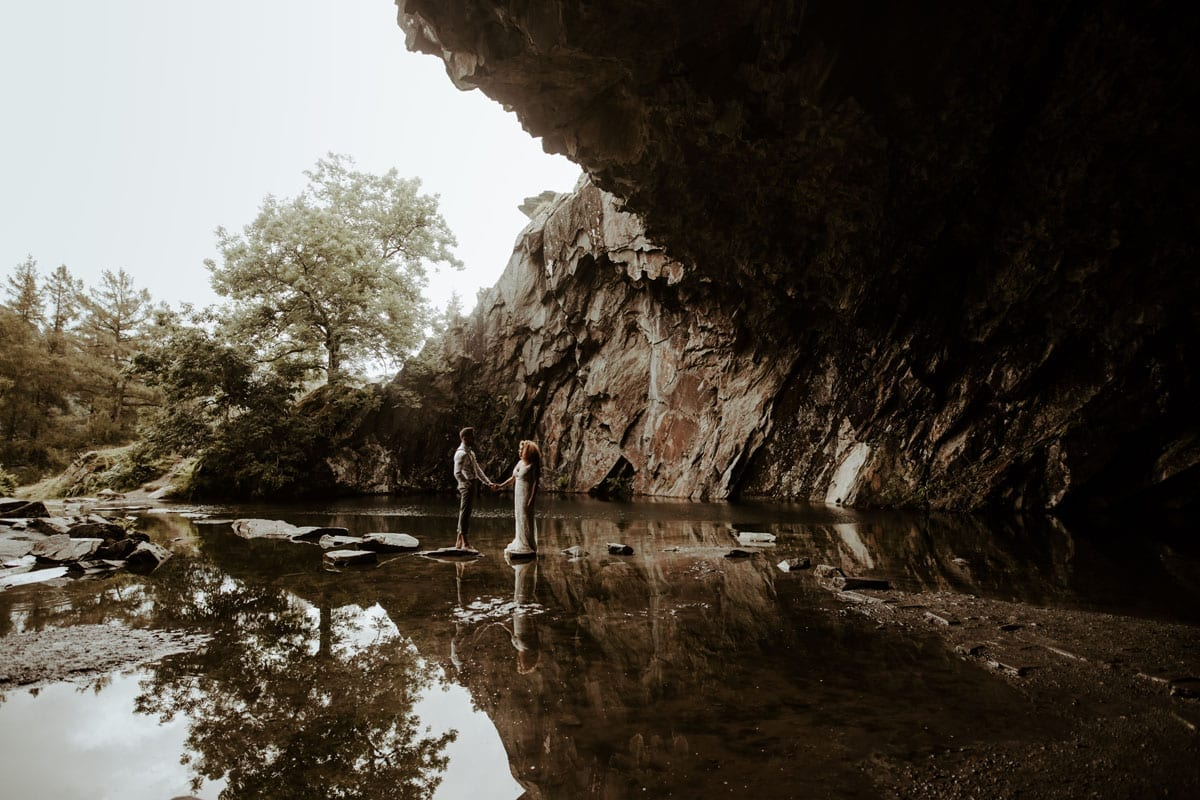 Rydal Cave Elopement - Jo Greenfield