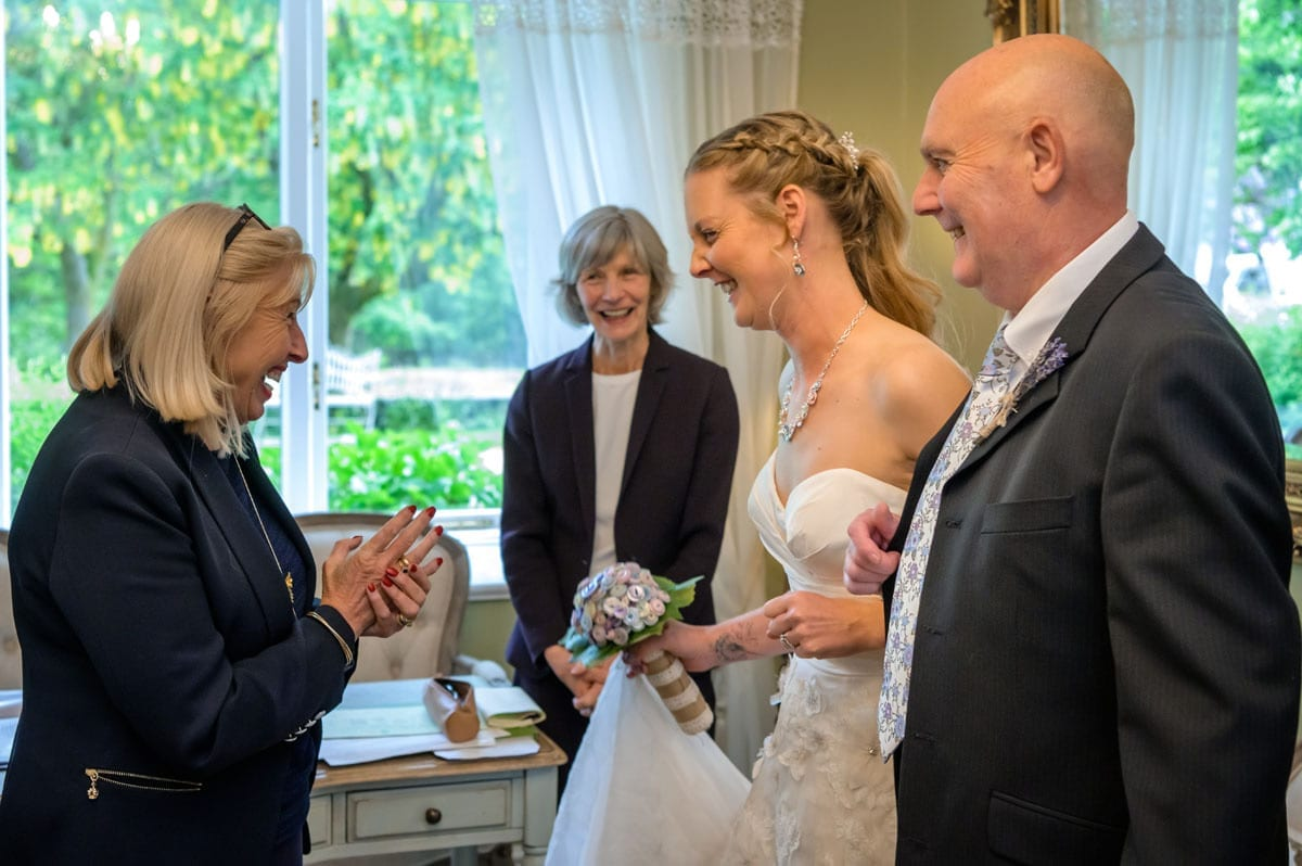 Getting-Married---Wedding-Couple-being-Congratulated-by-the-Registrars