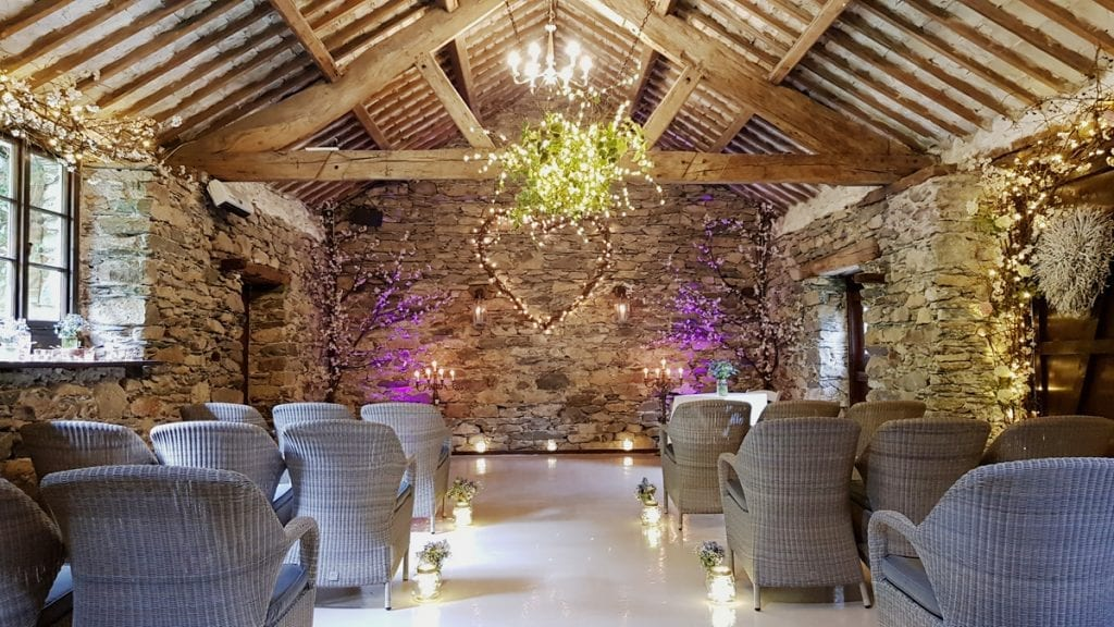 Luxury Micro Barn Wedding ceremony in the Lake District