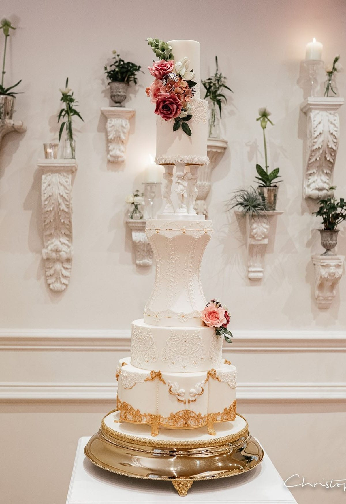 Huge Wedding Cake with Royal icing