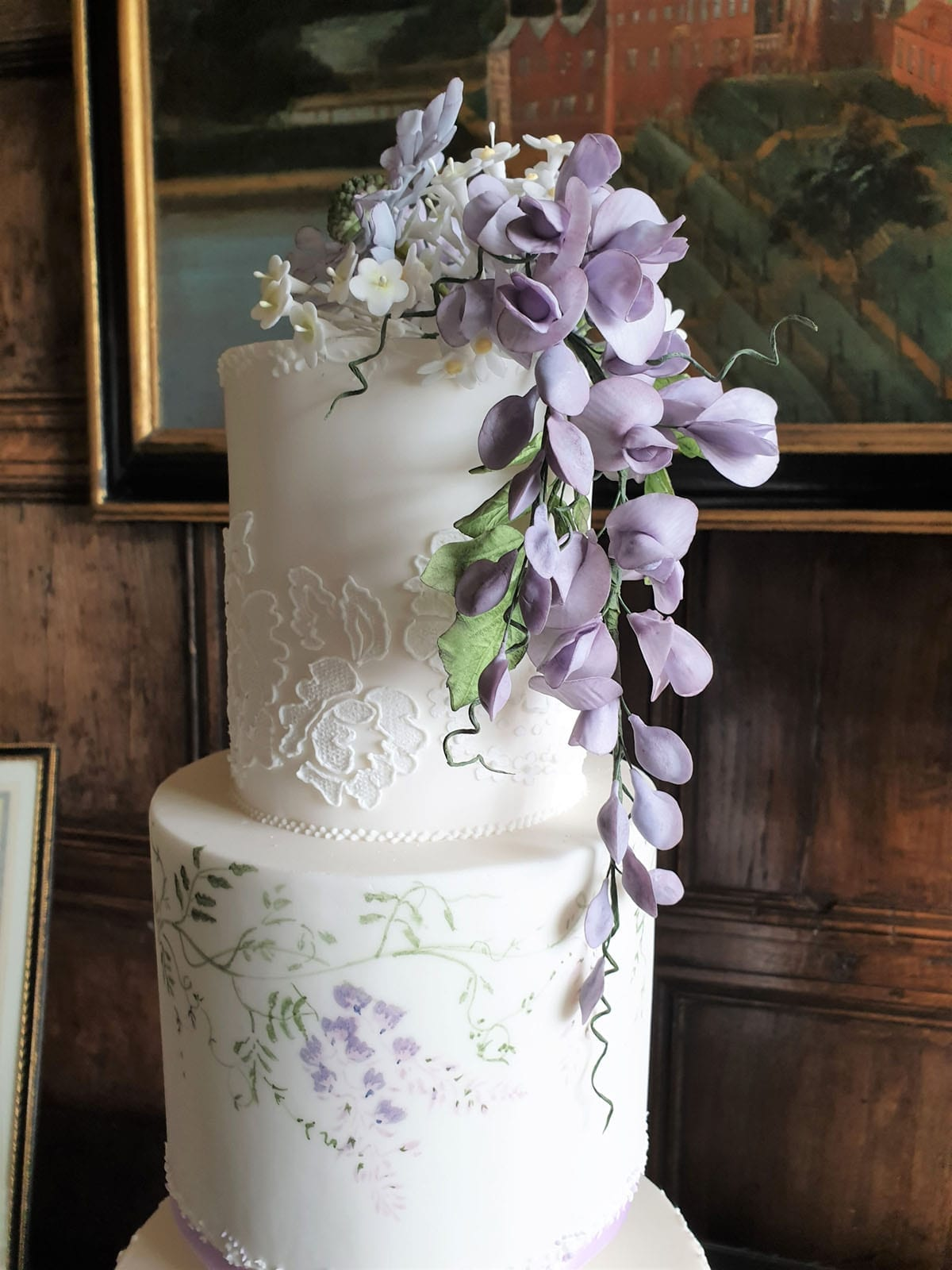 Modern Wedding Cakes with hand painting