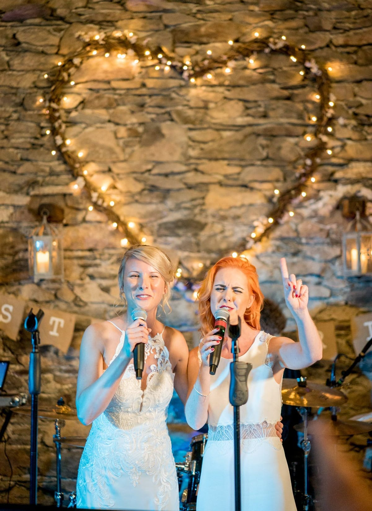 Wedding-Music----Two-Brides-singing-by-Derwent-Photography