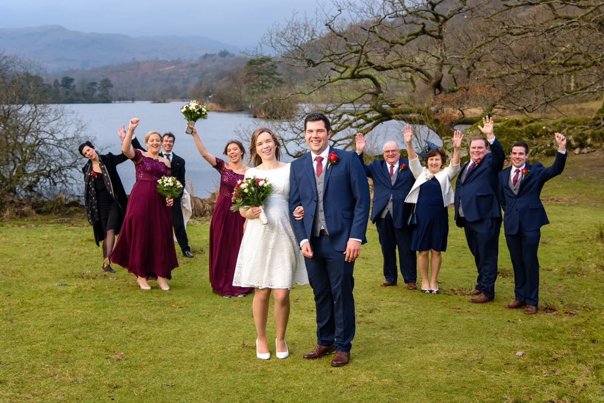 Small Lake District Family Winter Wedding