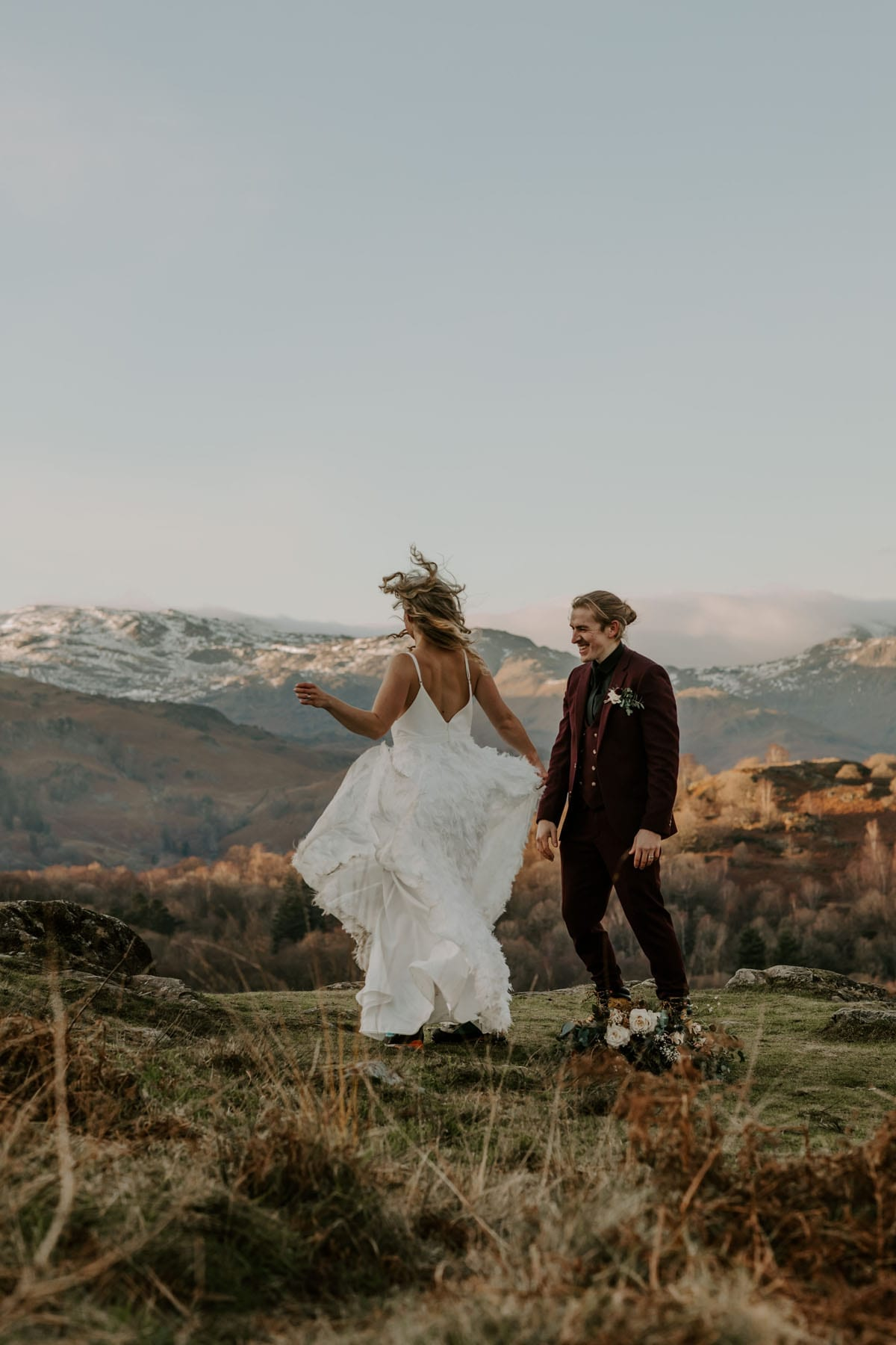 Elopement-Couple-on-a-Walk-Round-Rydal-After-Cote-How-Wedding