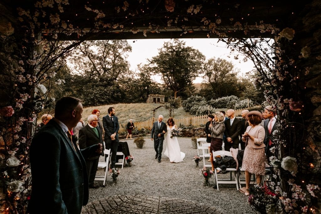 Outdoor Wedding Ceremony by Jo Greenfield