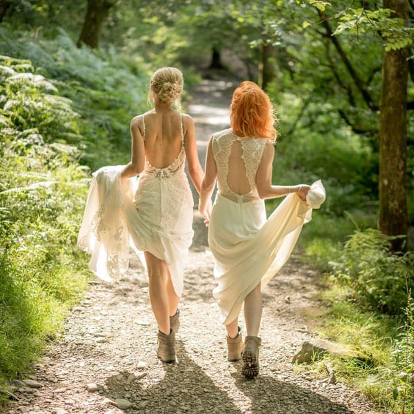Two Brides in Rydal Woods