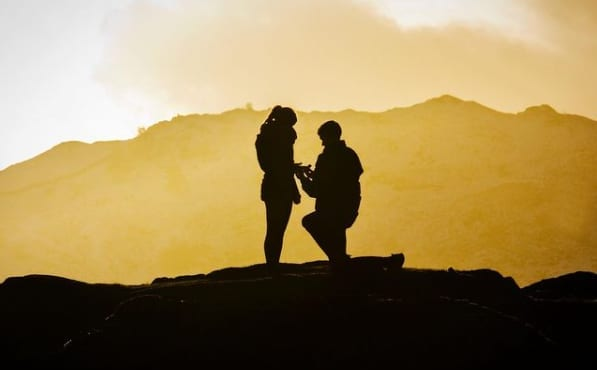 On one knee proposal on Loughrigg