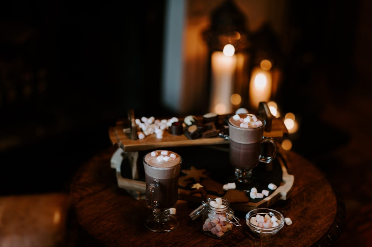 Warming-Hot-Chololate-and-Marchmallows-by-the-fire---Cosy-Winter-Wedding-in-the-Lakes