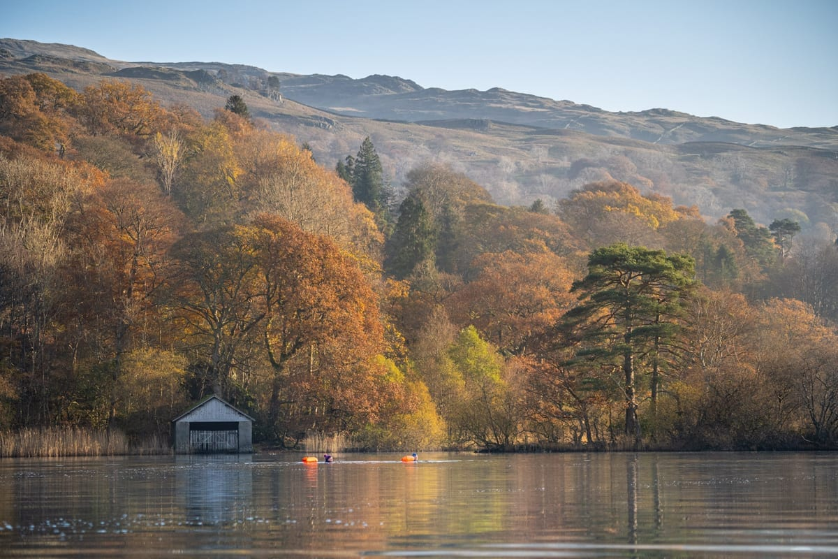 Wild Water Swimming by Cote How boathouse - Photo Tom McNally