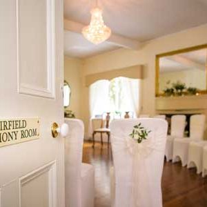 Civil Wedding in the Fairfield Ceremony Room